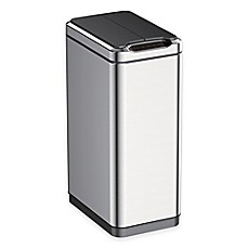 image of EKO Phantom Stainless Steel Rectangular 50-Liter Sensor Trash Can