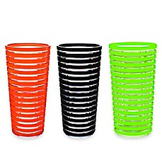 image of Zak! Designs® Stripe Double Old Fashioned Tumblers (Set of 6)