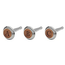 image of Nambe Alto Monogram Letter Bottle Stopper