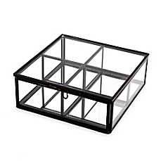 image of Mirrored 4-Section Storage Box