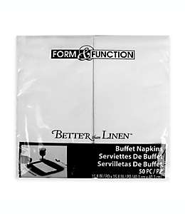 Toallas desechables de papel Better Than Linen®, en blanco, 50 pzas.