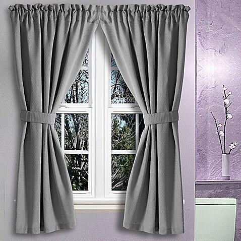 avalon 36 inch x 45 inch bath window curtain pair bed bath beyond For36 Inch Bathroom Window Curtains