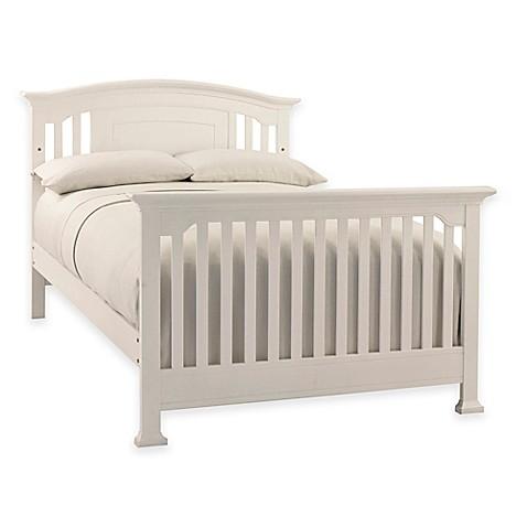 kingsley brunswick full size bed rails in white buybuy baby. Black Bedroom Furniture Sets. Home Design Ideas