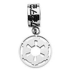 image of Star Wars™ Stainless Steel Imperial Symbol Dangle Charm