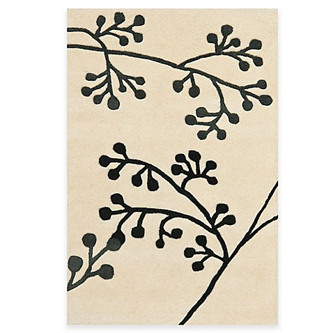 Safavieh Soho Ivory and Grey Botanical Wool 2-Foot x 3-Foot Rectangle Rug