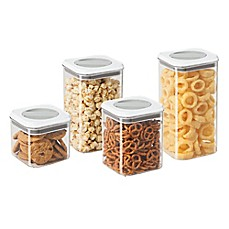 image of Oggi™ 4-Piece Twist and Store Canister Set