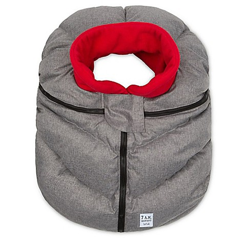 car seat buntings 7 a m enfant car seat cover in grey red from buy buy baby. Black Bedroom Furniture Sets. Home Design Ideas