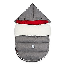 image of 7 A.M.® Enfant LambPOD Footmuff Cover with Base in Heather Grey/Red