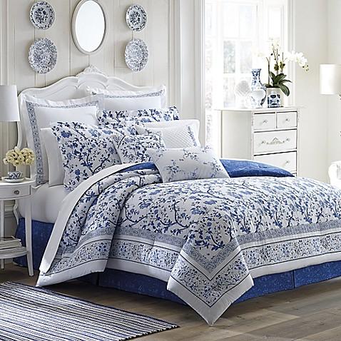 Laura ashley charlotte comforter set in china blue bed bath beyond laura ashleyreg charlotte comforter set in china blue gumiabroncs Image collections