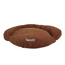 image of Velvet Microfiber Bolster Pet Bed