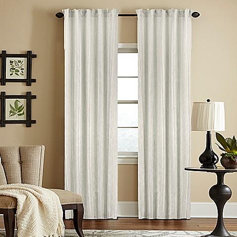 Woodrow Sheer Rod Pocket Window Curtain Panel - Bed Bath & Beyond