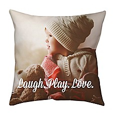 image of Square Dual Sided Photo Faux Down Throw Pillow