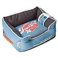 image of Touchdog® Sporty Vintage Throwback Rectangular Dog Bed