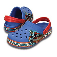image of Crocs™ Kids' Captain America™ Crocband™ Clog in Blue