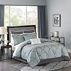 image of Madison Park Lavine Comforter Set in Blue