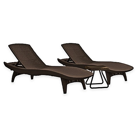 image of keter pacific sun 3piece lounger set