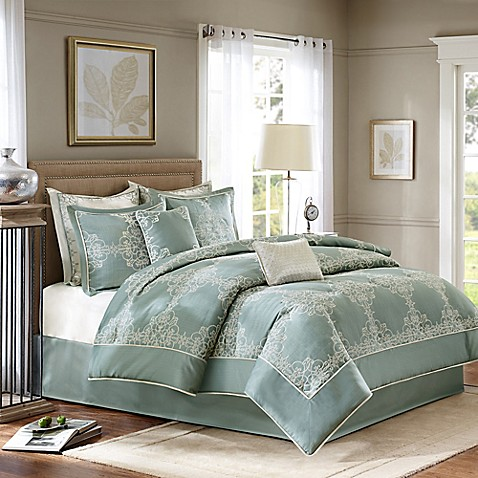Madison Park Signature Newhaven 8 Piece Comforter Set In