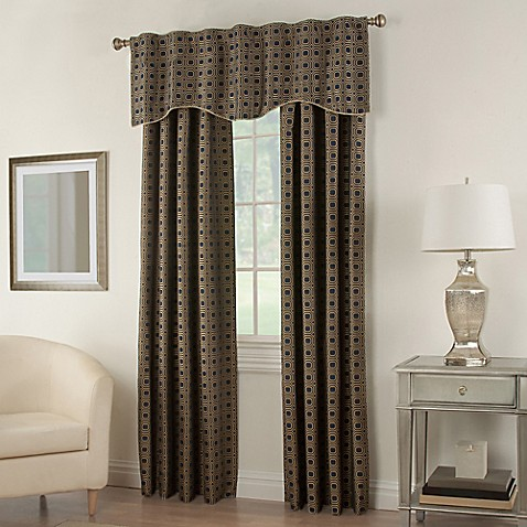 Milo Rod Pocket Lined Window Curtain Panel And Valance