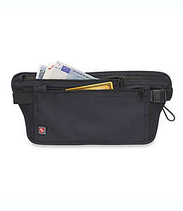 Portadocumentos de poliéster Latitude 40°N® para cintura con bloqueo de RFID color negro