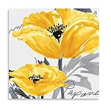 image of courtside market yellow poppy i canvas wall art