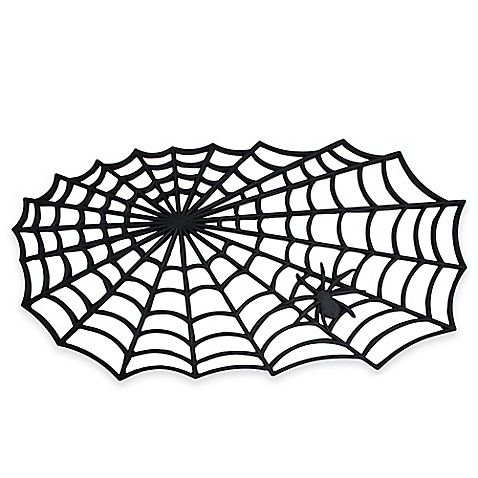 Halloween Spider Web 19 5 Inch X 34 5 Inch Rubber Door Mat