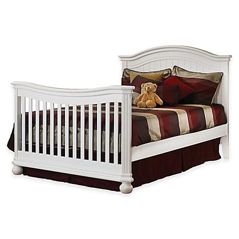 sorelle full size bed rails in white