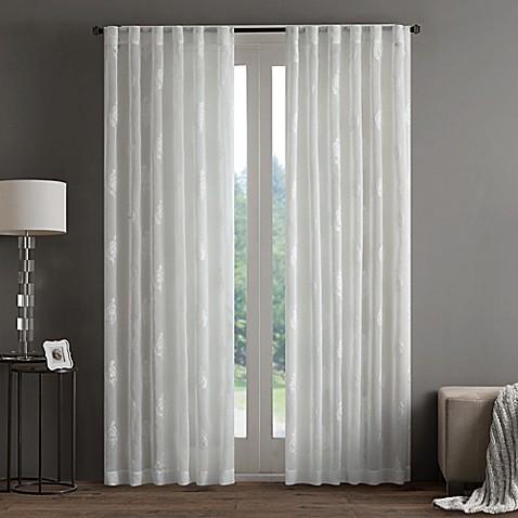 Regency Heights Aria Stamp Sheer Rod Pocket Window Curtain Panel ...