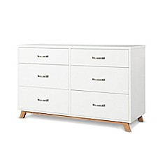 image of Child Craft™ SOHO 6-Drawer Double Dresser in White/Natural