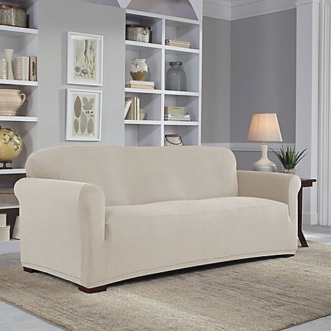 perfect fit easy fit sofa slipcover bed bath beyond. Black Bedroom Furniture Sets. Home Design Ideas