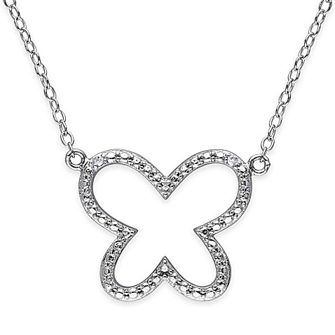 Buy Sterling Silver .01 cttw Diamond 18-Inch Chain Open