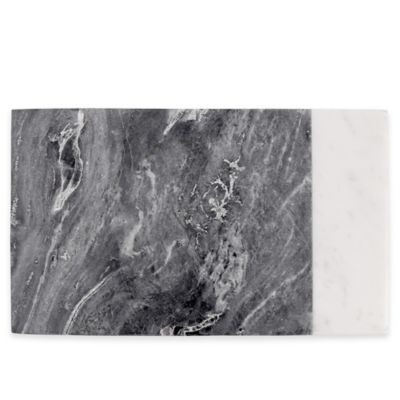 image of Artisanal Kitchen Supply® Marble Serving Board in White/Grey