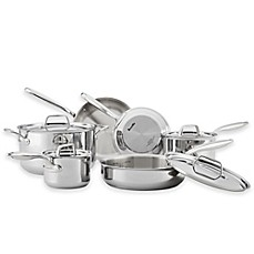 image of breville thermal pro clad stainless 10piece cookware set and open