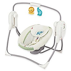 image of Fisher-Price® SpaceSaver Cradle 'n Swing in White