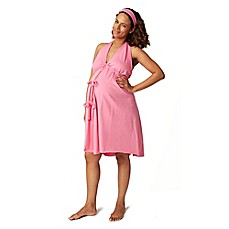 image of Pretty Pushers® Labor Gown in Hot Pink