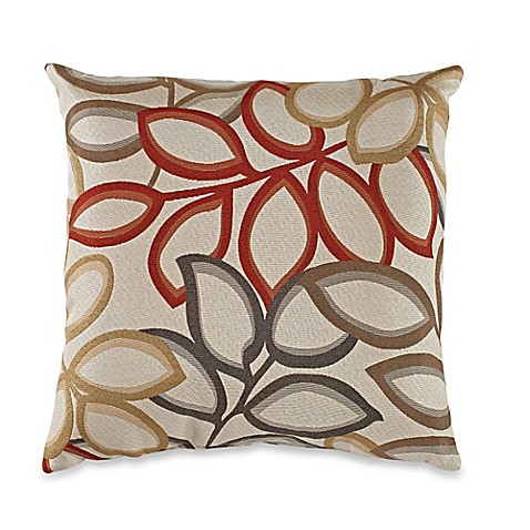 Red Throw Pillow For Bed : Poeme Square Throw Pillow in Red - Bed Bath & Beyond