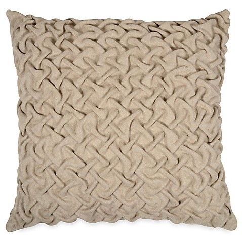 Throw Pillows Native American : Buy Pleated Square Throw Pillow in Neutral from Bed Bath & Beyond