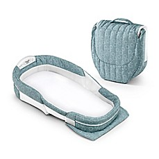 image of Baby Delight® Snuggle Nest® Surround  Portable Infant Sleeper in Sea Green Rings