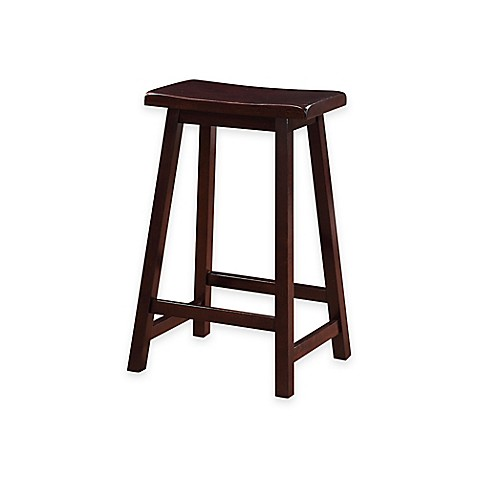 Classic Saddle Stools In Dark Brown Bed Bath Amp Beyond
