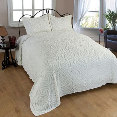 Wedding Ring Chenille Bedspread in Ivory Bed Bath Beyond