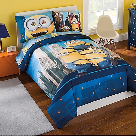 minions 5 6 piece comforter set bed bath beyond