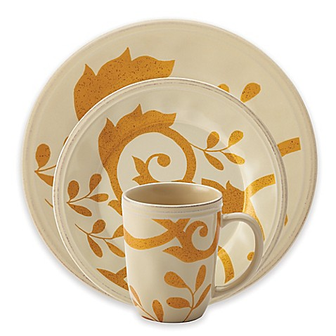Rachael Rayu0026trade; Gold Scroll Dinnerware Collection in Almond Cream  sc 1 st  Bed Bath u0026 Beyond & Rachael Ray™ Gold Scroll Dinnerware Collection in Almond Cream - Bed ...