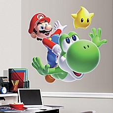 image of York Wallcoverings Nintendo® Mario and Yoshi Peel and Stick Giant Wall Decal
