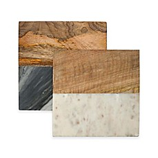 image of Thirstystone® Marble and Wood Trivet