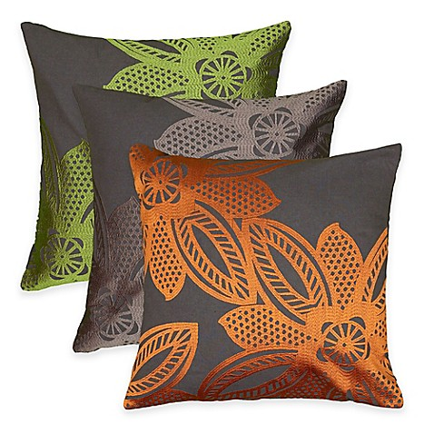 Rizzy Home Crewel Embroidery Square Throw Pillow - Bed Bath & Beyond