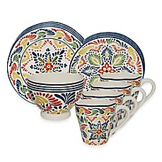 image of Alicante 16-Piece Dinnerware Set in Yellow