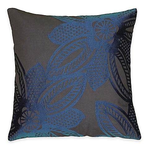 Buy Rizzy Home Crewel Embroidery Square Throw Pillow in Blue from Bed Bath & Beyond