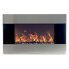 image of Northwest Stainless Steel Electric Fireplace Heater in Black