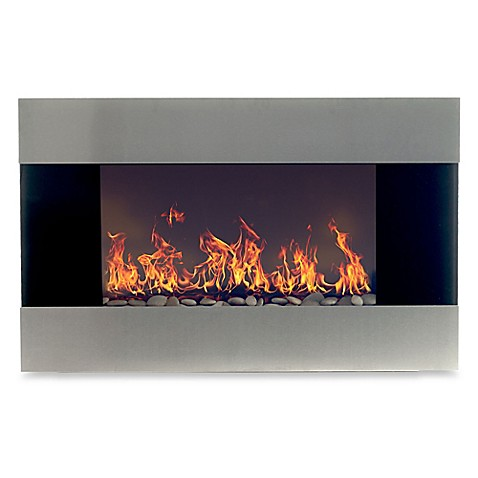 northwest stainless steel electric fireplace heater in