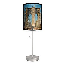 image of Brooklyn Bridge Color Table Lamp in Matte Silver