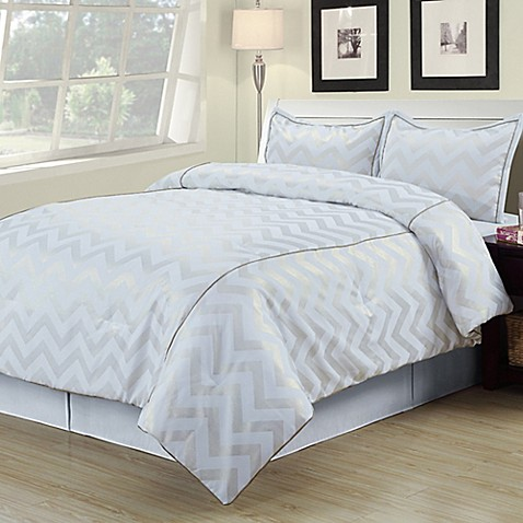 Buy Cadence Twin Comforter Set In White Gold From Bed Bath